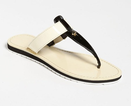 Kate Spade Ana Black and White Sandal